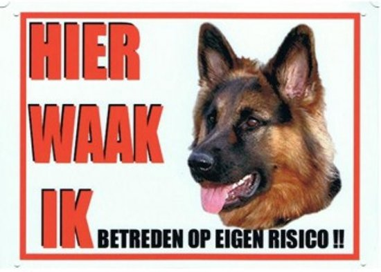 waarschuwingsbord voor aanwezigheid hond