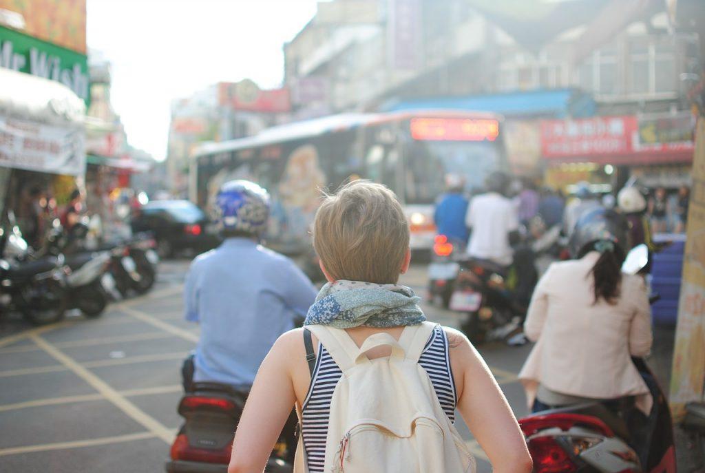 toerist in buitenland