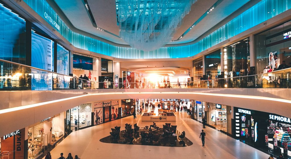 winkelcentrum, wees alert op winkeldiefstal